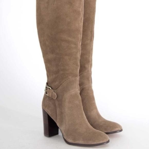 d8de5b99ca97a Sam Edelman Lucy Suede tall heel boots 9.5 tan. M 5a650cee9a94557bc4312d41